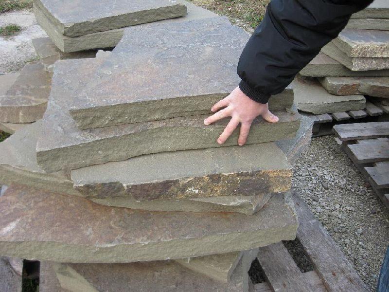 Толстый плитняк - камень для кладки подпорных стен, плиты