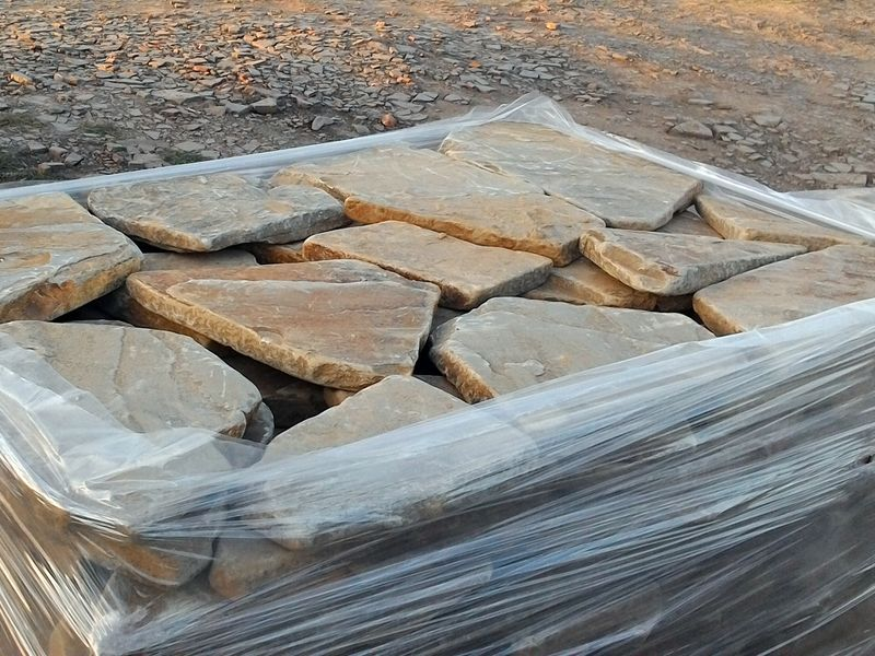песчаник опавший лист 3 см галтованый