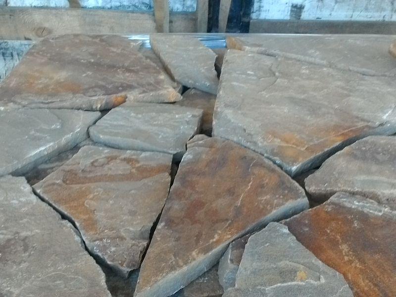 песчаник осенний лист плашка