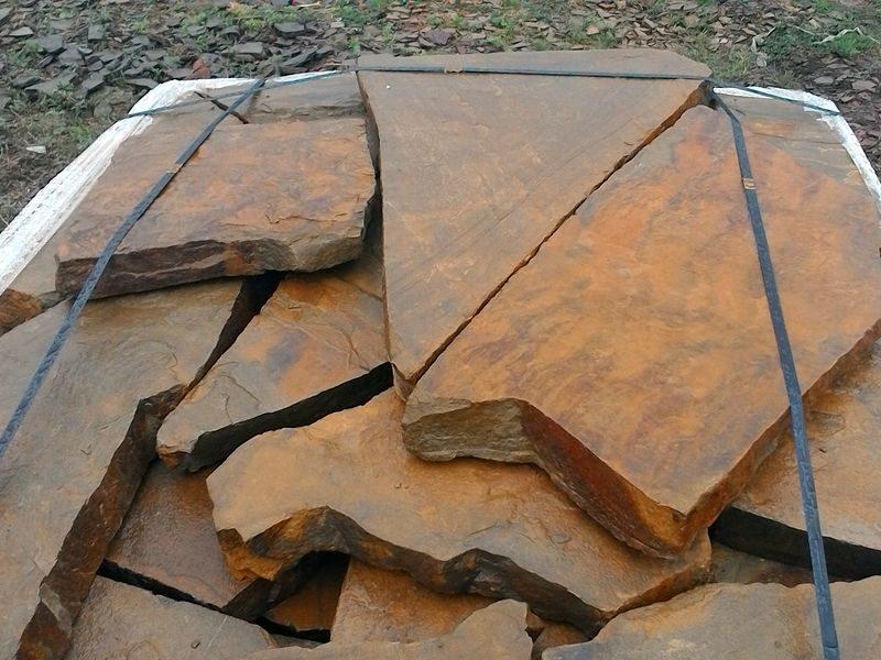 песчаник плитняк осенний лист 5см