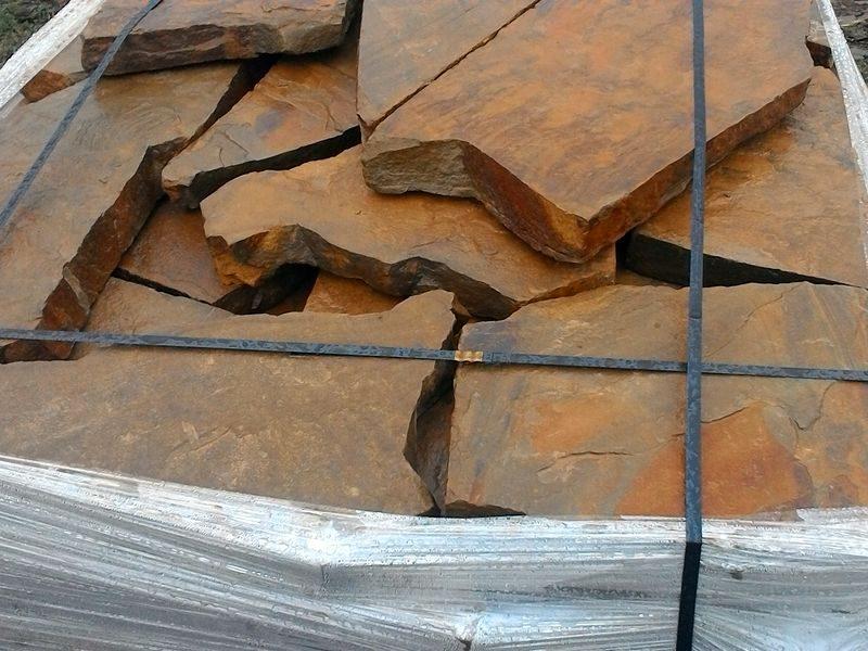 плитняк крупный плашка осенний лист