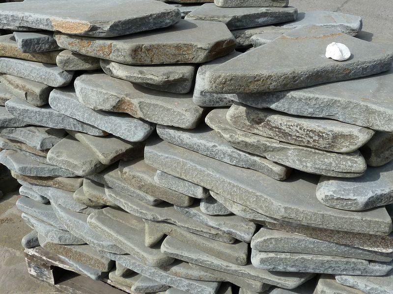 песчаник серый галтованный 40мм